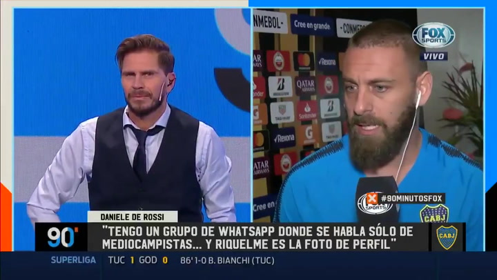 "Daniele De Rossi: ""Vi un solo mediocampista mejor que Riquelme: Iniesta"""