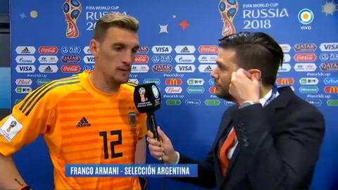 Armani: Ahora arranca lo bueno, siempre con humildad, arrancan las finales