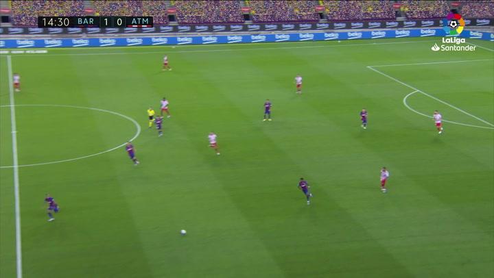 Gol de Saúl, p. (1-1) en el Barcelona 2-2 Atlético