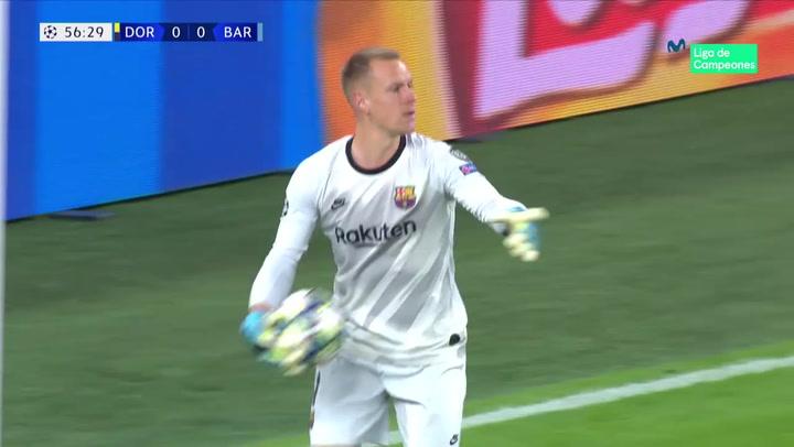 Champions League: Dortmund-Barça. Así ha sido la exhibición de Ter Stegen