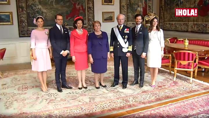 Reaparición sorpresa de Victoria y Sofia de Suecia en honor a la Presidenta de Chile