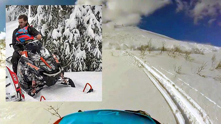 Svenske Patrik ble kastet 50 meter av snøskred