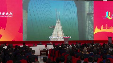 Xi Jinping inaugura en China el mayor puente marítimo del mundo