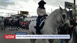 Fiesta y algarabía se vive en el gran Carnaval de Tegucigalpa