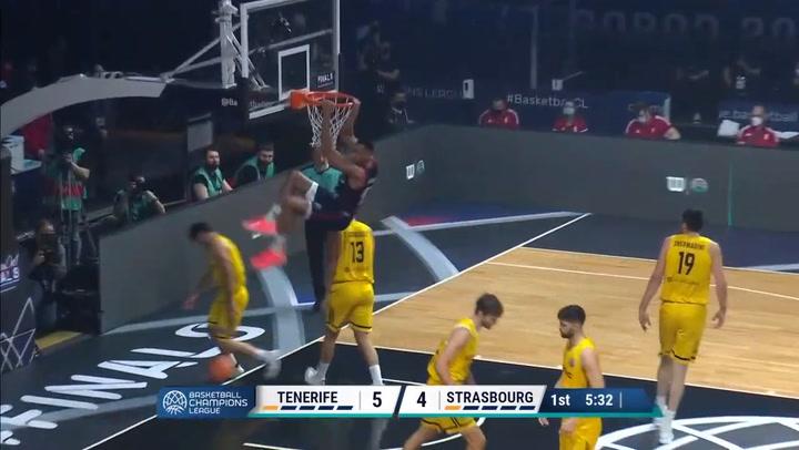 Resumen del Lenovo Tenerife v- Strasbourg (86-88) de Basketball Champions League