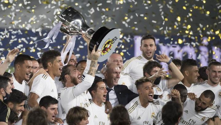 Así celebró el Real Madrid la Liga 2019/2020