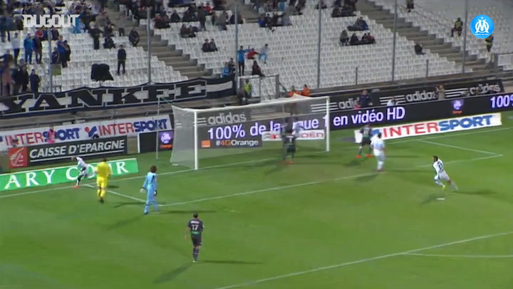 André Ayew's perfect hat trick vs AC Ajaccio