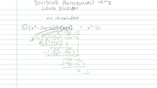 Dividing Polynomials using Long Division - Problem 5