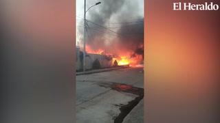 Se reporta incendio estructural en la Cerro Grande zona 4