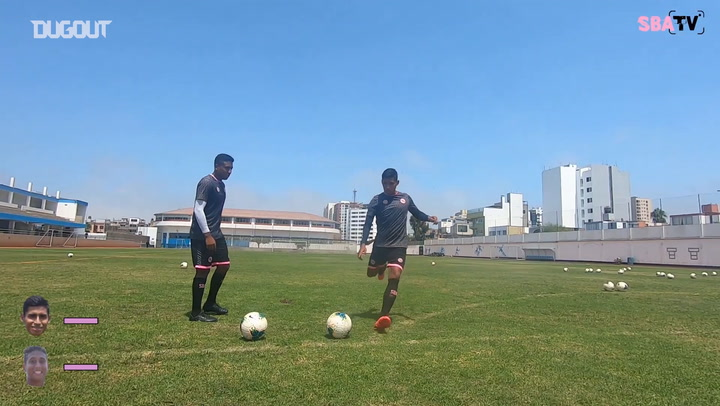 Jeremy Rostaing and Diego Ramírez's crossbar challenge