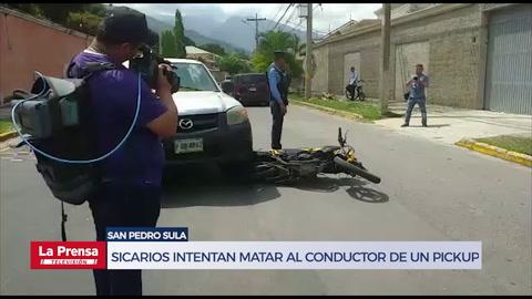 Sicarios intentan matar al conductor de un pickup en San Pedro Sula