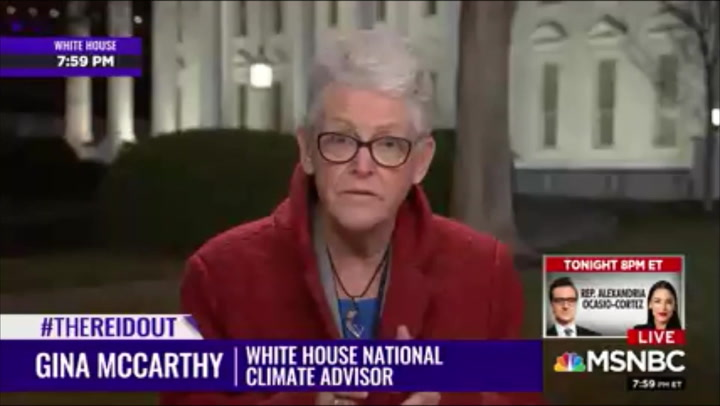 Gina McCarthy: 'Definitely a Commonality' Between Biden Climate Orders, Green New Deal