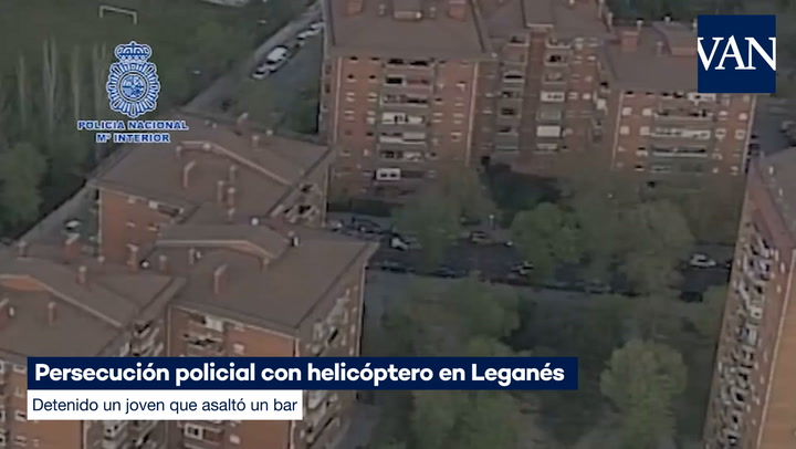 Detenido un joven que asaltó un bar tras una persecución policial con helicóptero