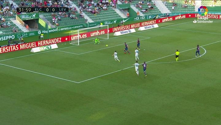 Gol de Lucas Pérez (1-0) en el Elche 1-1 Levante
