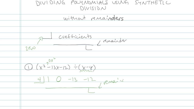 Dividing Polynomials using Synthetic Division - Problem 3