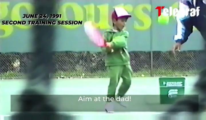 La primera clase de tenis de Djokovic con solo 4 años enternece a las redes