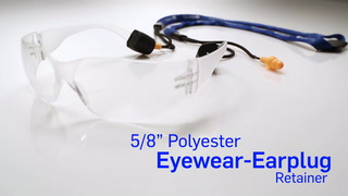 "5/8"" Polyester Eyewear Retainer With Crimp & Earplugs"