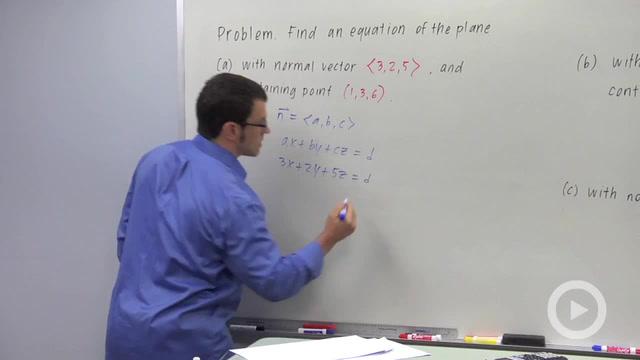Vectors and Planes - Problem 1