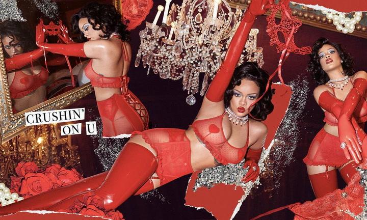 Rihanna posa con lo mínimo antes de San Valentín