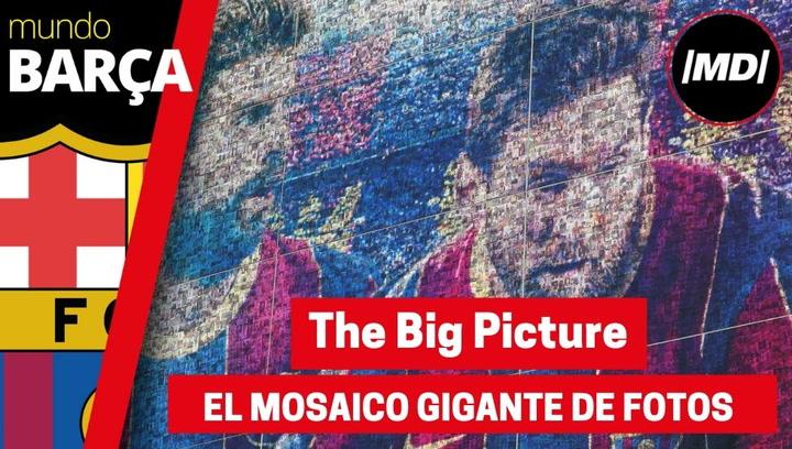 Rakuten y el FC Barcelona desvelan The Big Picture, el nuevo mosaico gigante creado con fotos de aficionados de la fachada principal del Camp Nou