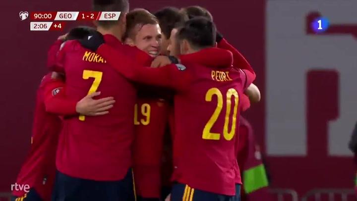 Un gol de Olmo en el 92' le da el triunfo a España en Georgia   Mundo Deportivo