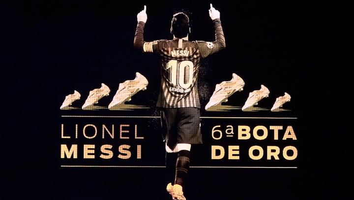 Los mejores momentos de la Gala en la que Messi recibió su sexta Bota de Oro