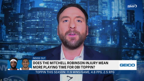 Begley: Does Mitchell Robinson's hand fracture mean it's time for Obi Toppin to shine?