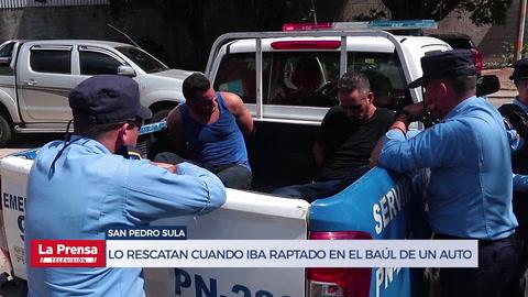Lo rescatan cuando iba raptado en el baúl de un auto en San Pedro Sula