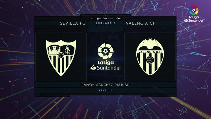 LaLiga Santander (J6): Resumen y goles del Sevilla 3-1 Valencia