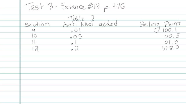 Test 3 - Science - Question 13