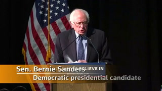 Sanders speaks in Minnesota