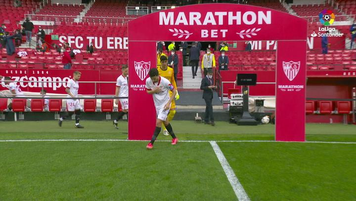 LaLiga Santander (J25): Resumen y goles del Sevilla 0-2 Barcelona