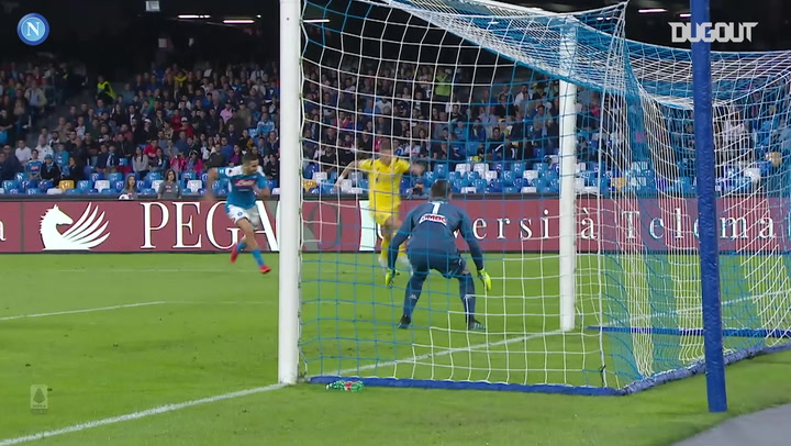 Alex Meret's triple save vs Verona