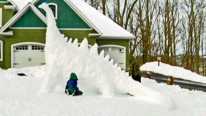 Er dette årets søteste «snømann»?