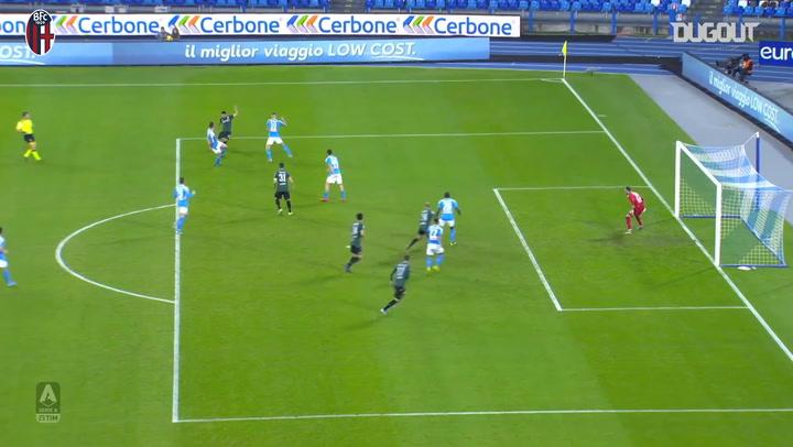 Bologna FC's last goals at SSC Napoli