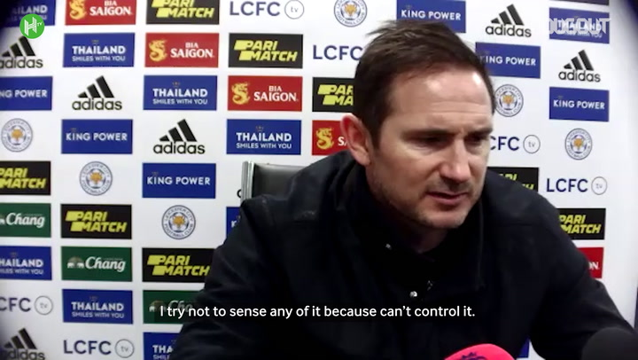 Lampard addresses Chelsea future following Leicester defeat