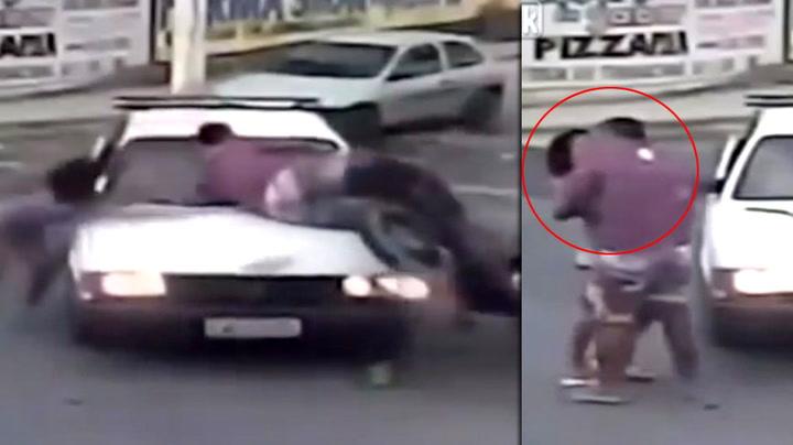 Paret kliner sekunder etter ulykken