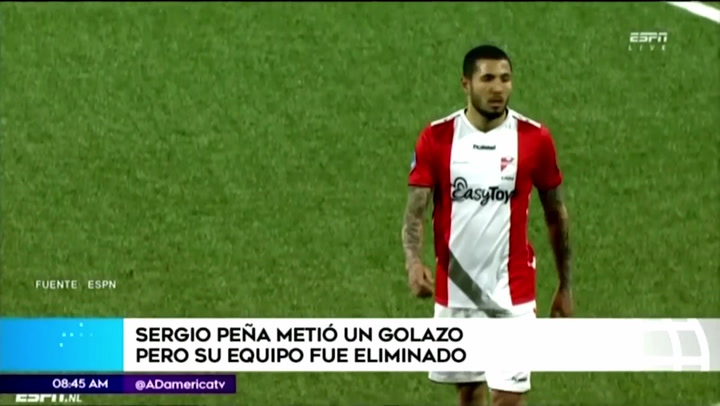 Sergio Peña anotó un golazo con FC Emmen en la Copa de Holanda