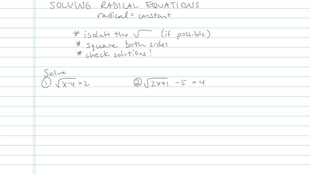 Solving an Equation with Radicals - Problem 13