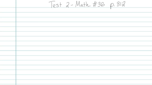 Test 2 - Math - Question 36