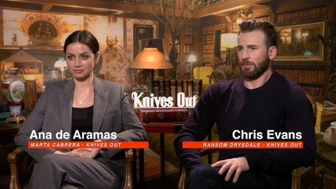 That time we asked Chris Evans about his acrylic nails…and 'Knives Out'