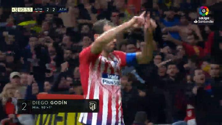 Gol de Godín al Athletic