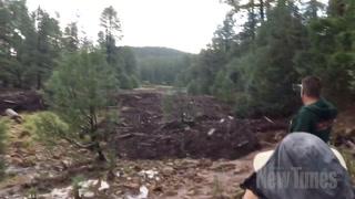 Raw Video: Flash Flooding Near Payson