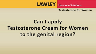Can I apply Testosterone Cream for Women to the genital region?