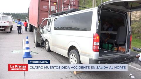 Cuatro muertos en accidente en Tegucigalpa