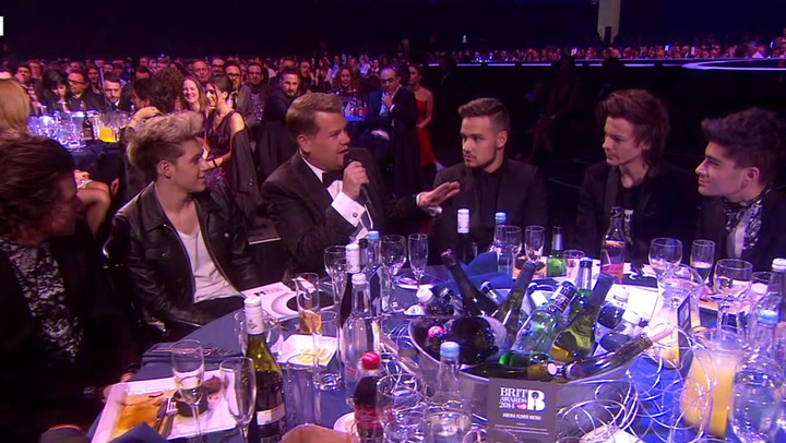 One Direction Squirm While Giving Bieber Advice at BRIT Awards