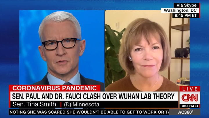 Dem Sen. Smith: I Want to Know How COVID Originated, But It's 'Completely Unacceptable' to Impugn Fauci's Credibility