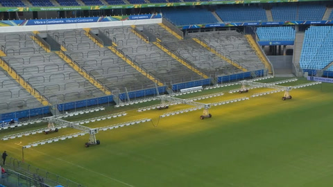 Quejas por estado del césped en canchas de Copa América