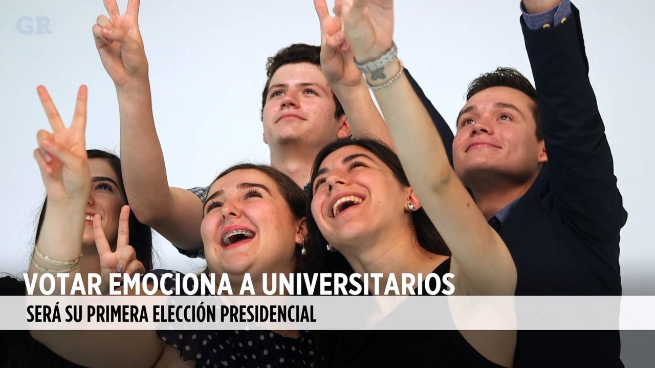 VIDEO: Votar esntusiasma a universitarios