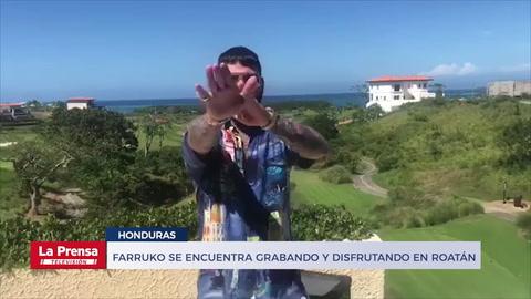 Farruko se encuentra grabando y disfrutando en Roatán, Islas de la Bahía